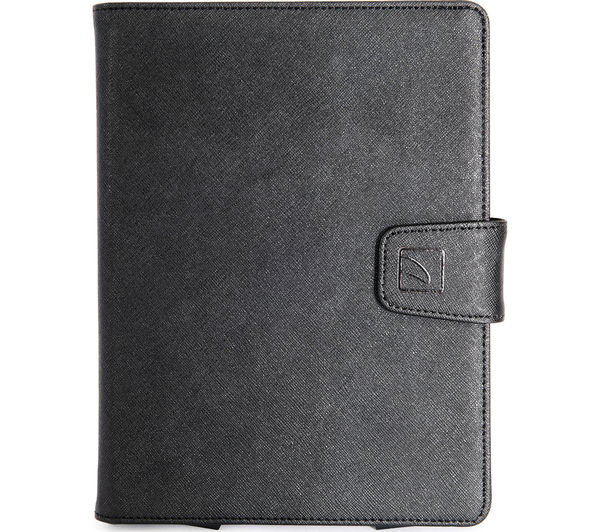 """Image of TUCANO Uncino 7 - 8"""" Universal Rotating Leather Tablet Case - Black"""