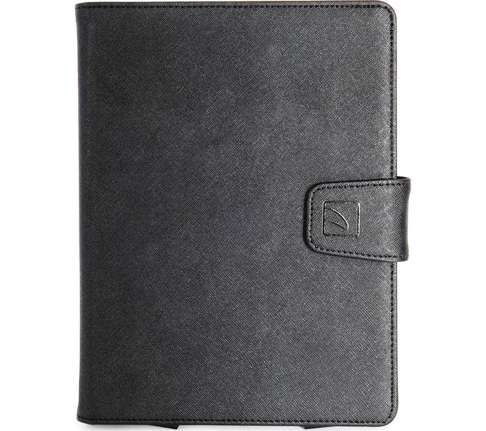 "Tucano Uncino 7 - 8"" Universal Rotating Leather Tablet Case - Black, Black"
