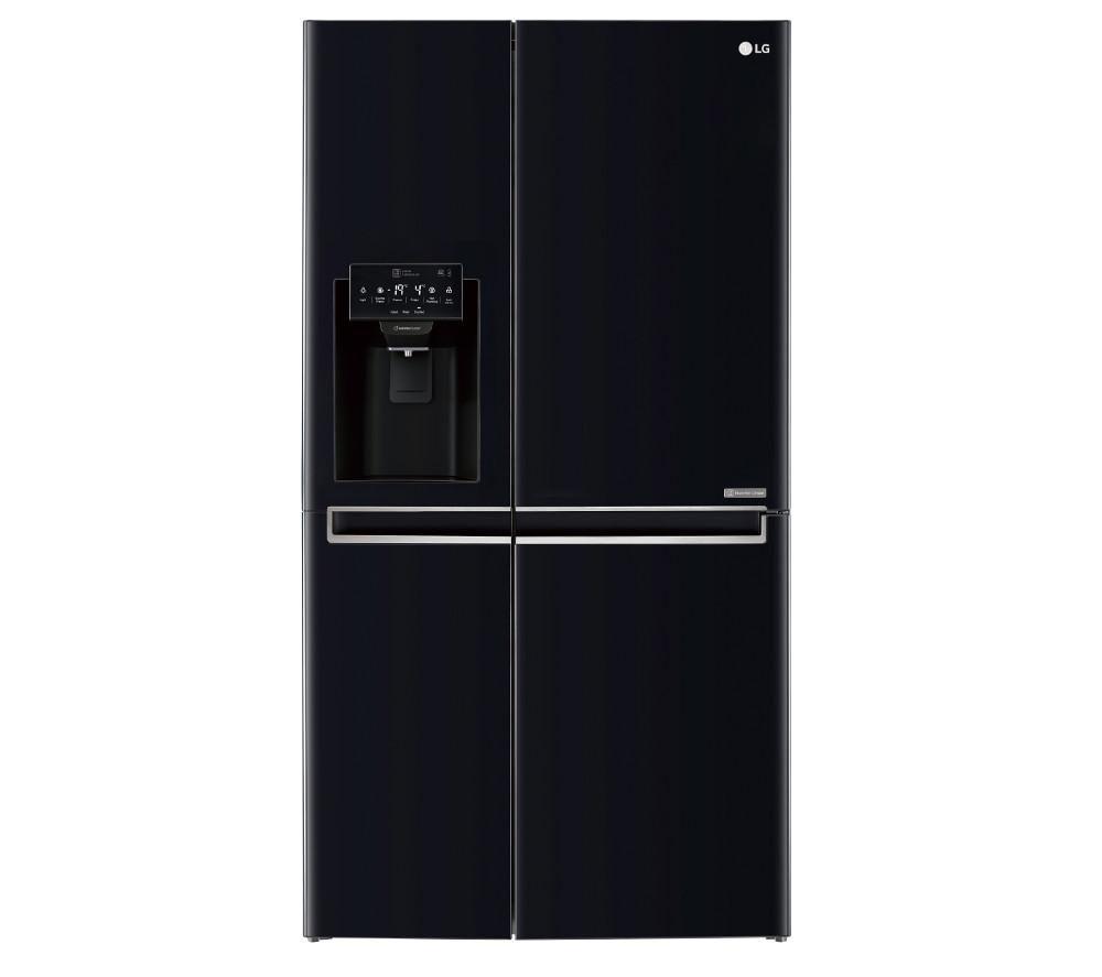 Image of LG GSL761WBXV American-Style Fridge Freezer - Black, Black