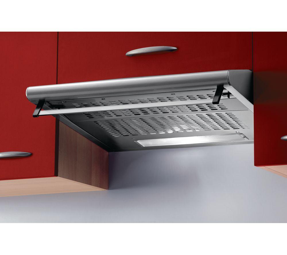 BAUMATIC  STD6.2W Visor Cooker Hood  White Stainless Steel