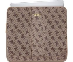 """GUESS Uptown 11"""" Laptop Sleeve - Brown"""