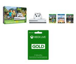 MICROSOFT Xbox One S with Minecraft Favourites