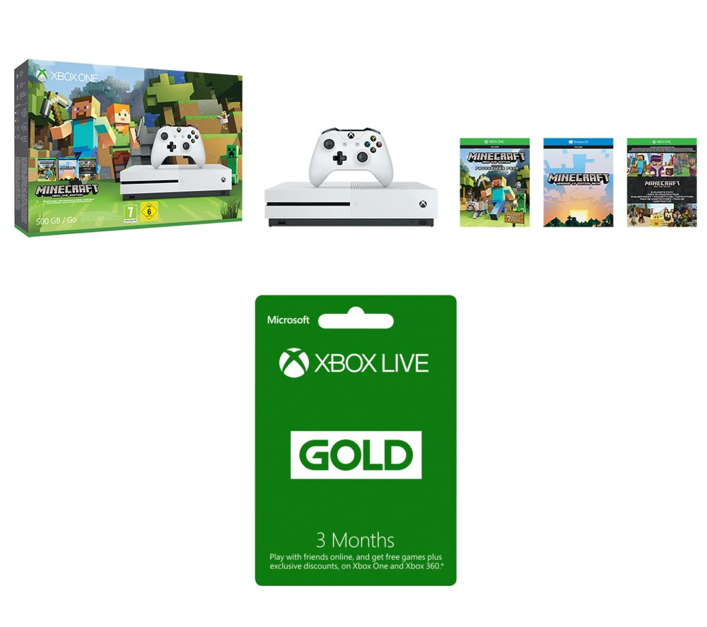 microsoft xbox one s with minecraft favourites xbox live. Black Bedroom Furniture Sets. Home Design Ideas