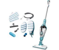BLACK & DECKER FSMH1351SM-GB 9 in 1 Steam Mop - White & Aqua