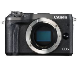 CANON EOS M6 Mirrorless Camera - Black, Body Only