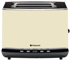 HOTPOINT TT 22E AC0 2-Slice Toaster - Cream