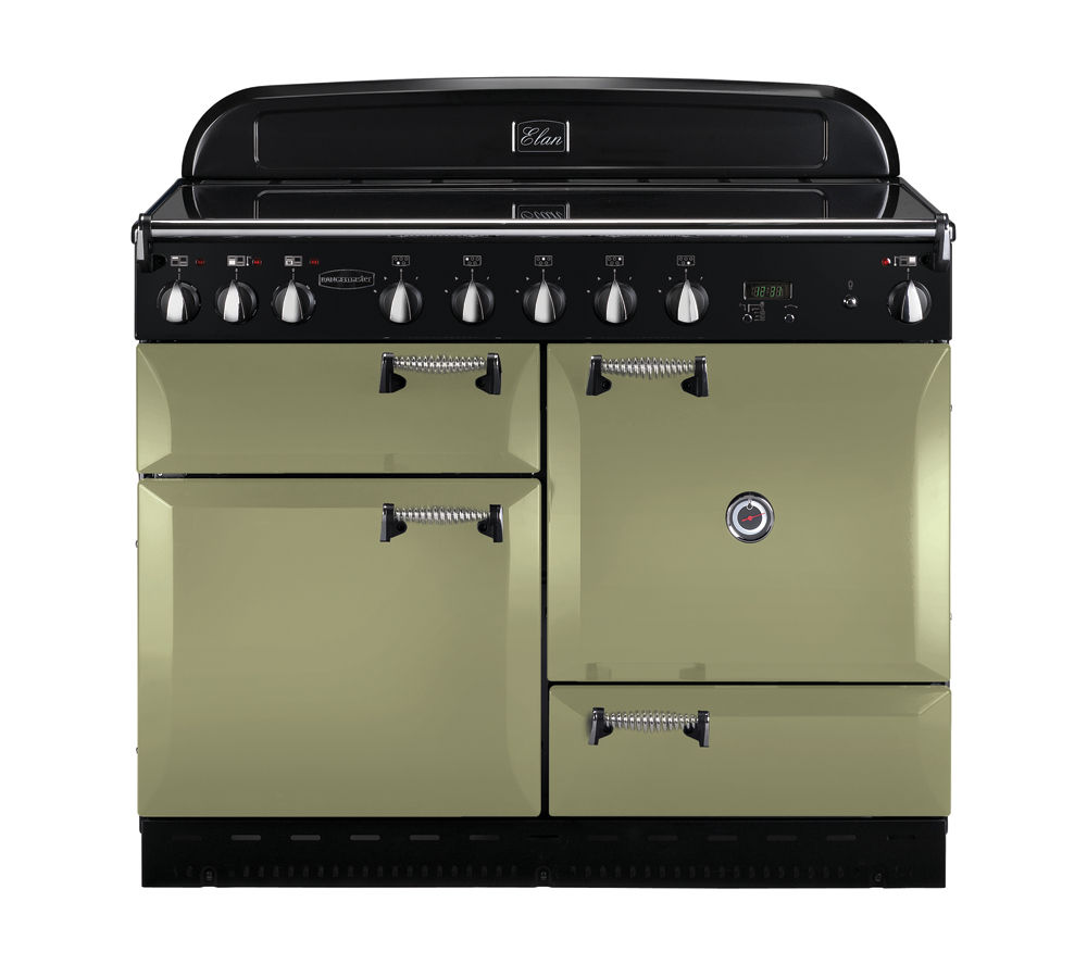 RANGEMASTER Elan 110 Induction Range Cooker - Olive Green & Chrome