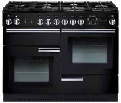 RANGEMASTER Professional+ 110 Dual Fuel Range Cooker - Black