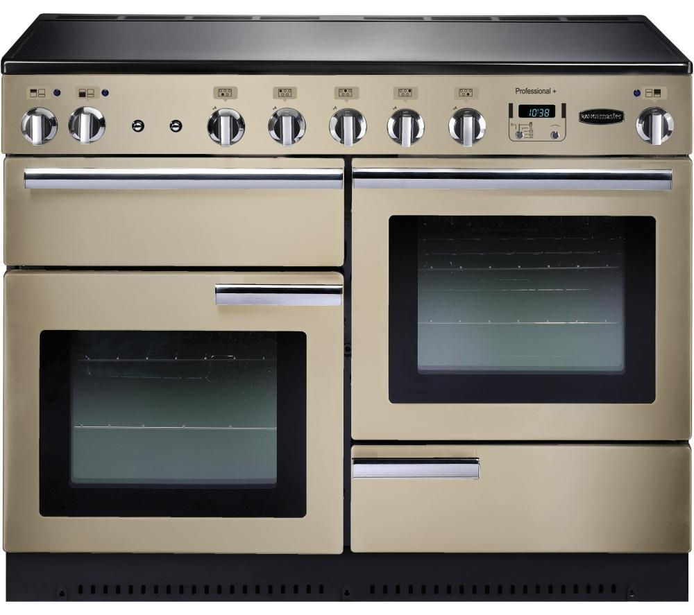 RANGEMASTER  Professional 110 Electric Induction Range Cooker  Cream & Chrome Cream