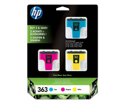 HP 363 Cyan, Magenta & Yellow Ink Cartridges - Multipack
