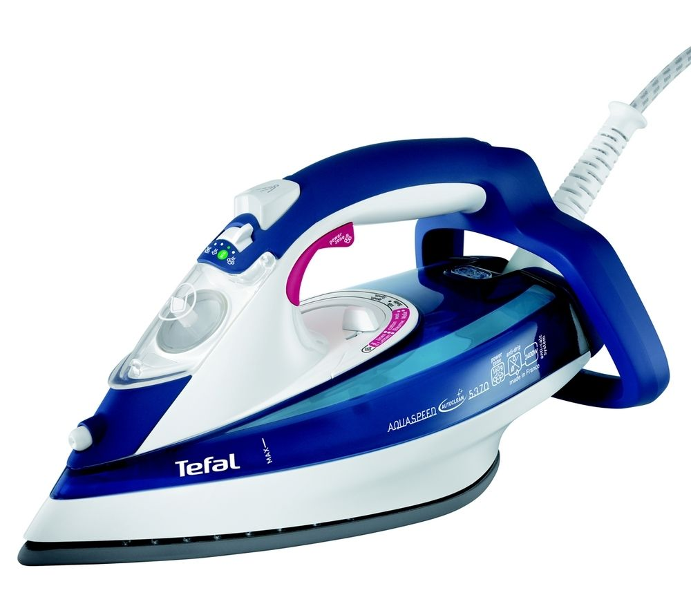 TEFAL Aquaspeed FV5370 Steam Iron - Blue