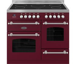 BRITANNIA Fleet 100 XG Electric Induction Range Cooker - Matte Burgandy & Stainless Steel