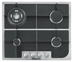 HOOVER HGH64SQDX Gas Hob - Stainless Steel