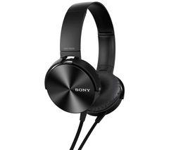 SONY MDR-XB450APB Headphones - Black