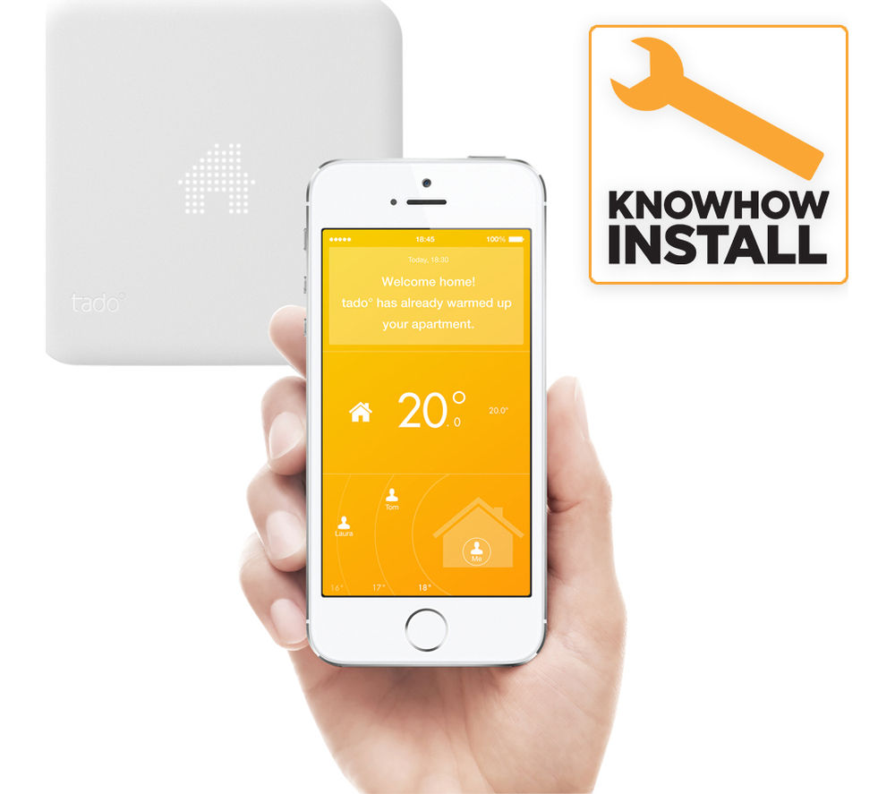 buy tado smart thermostat and installation free delivery. Black Bedroom Furniture Sets. Home Design Ideas