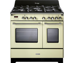 KENWOOD CK425-CR 90 cm Dual Fuel Range Cooker - Cream