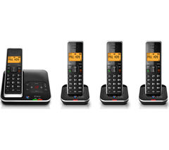 BT Xenon 1500 Cordless Phone with Answering Machine – Quad Handsets