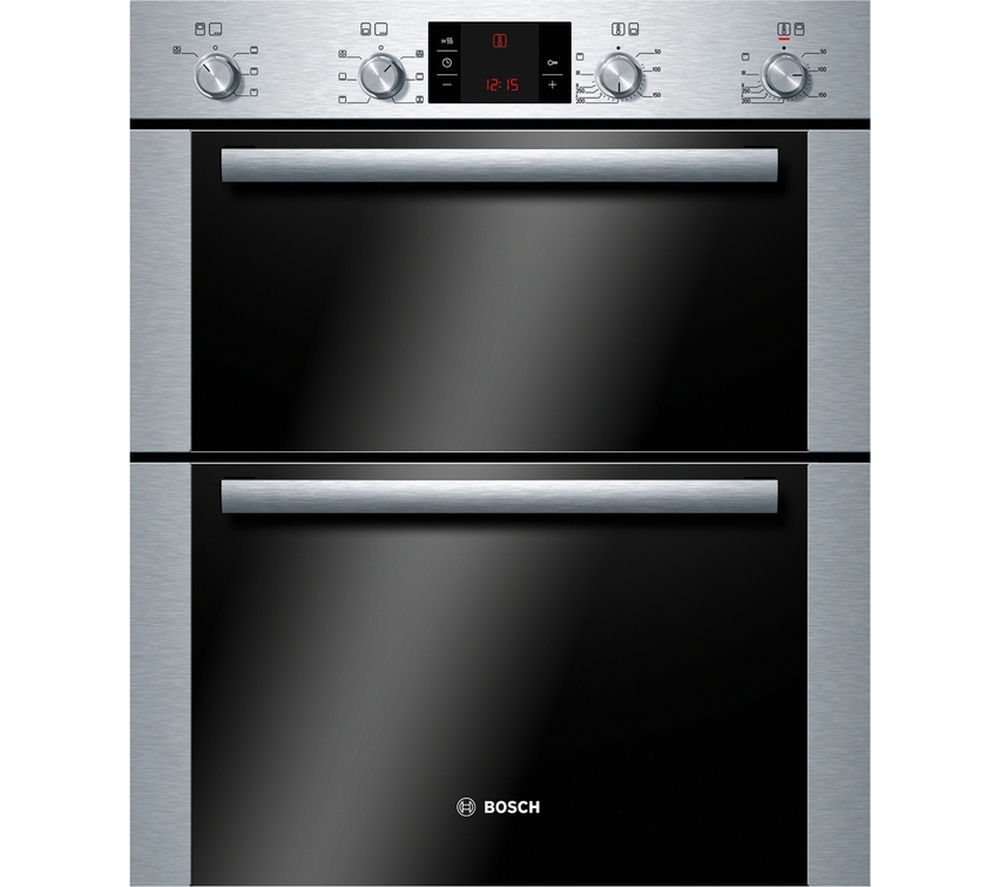 BOSCH  Avantixx HBN43B250B Electric Builtunder Double Oven  Brushed Steel Brushed Steel