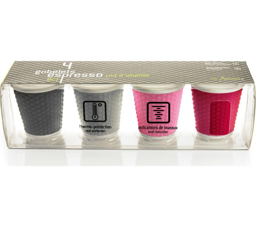 Buy Les Artistes Honeycomb Espresso Cups Set Of 4 Free