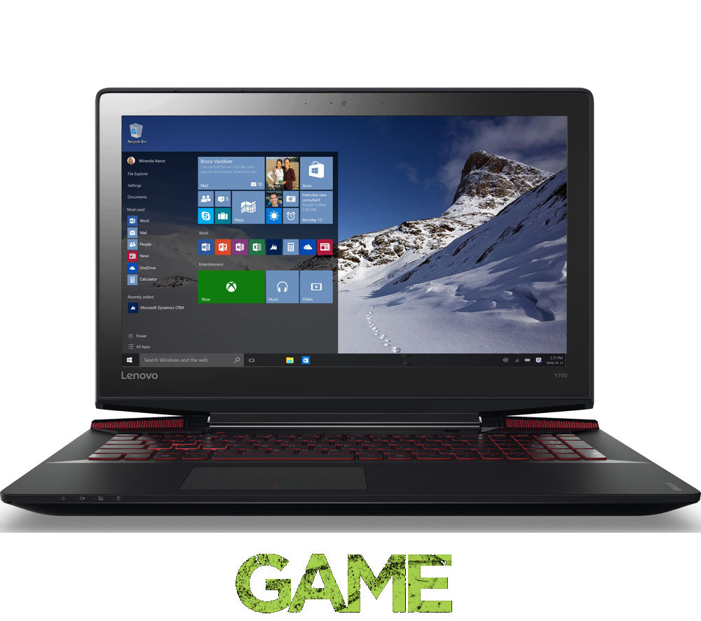 "LENOVO Ideapad Y700 17.3"" Gaming Laptop - Black"
