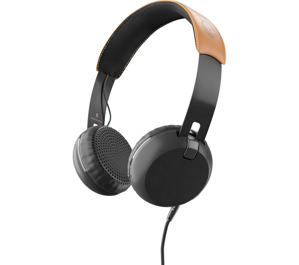 SKULLCANDY  Grind S5GRJT-543 Headphones - Black & Tan, Black