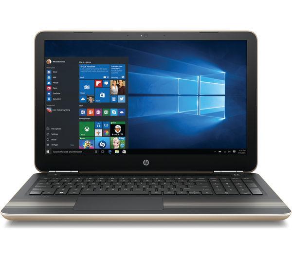 """Image of HP Pavilion 15-au078sa 15.6"""" Laptop - Gold"""
