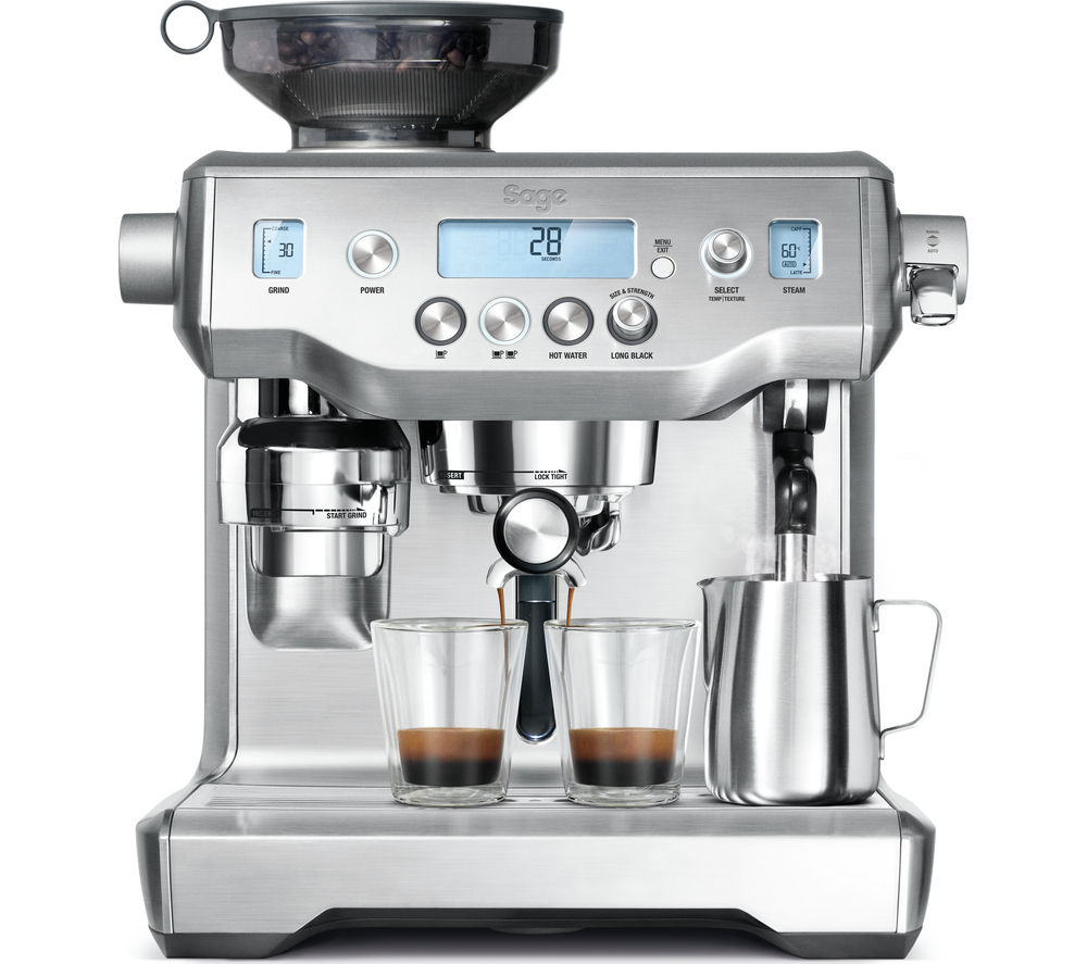 SAGE by Heston Blumenthal Oracle Bean to Cup Coffee Machine - Silver