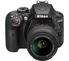 NIKON D3400 DSLR Camera with 18-55 mm f/3.5-5.6 Lens - Black