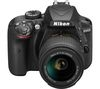 NIKON D3400 DSLR Camera with 18-55 mm f/3.5-5.6 Zoom Lens - Black