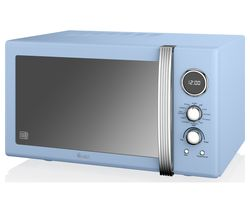 SWAN SM22080BLN Microwave with Grill - Blue