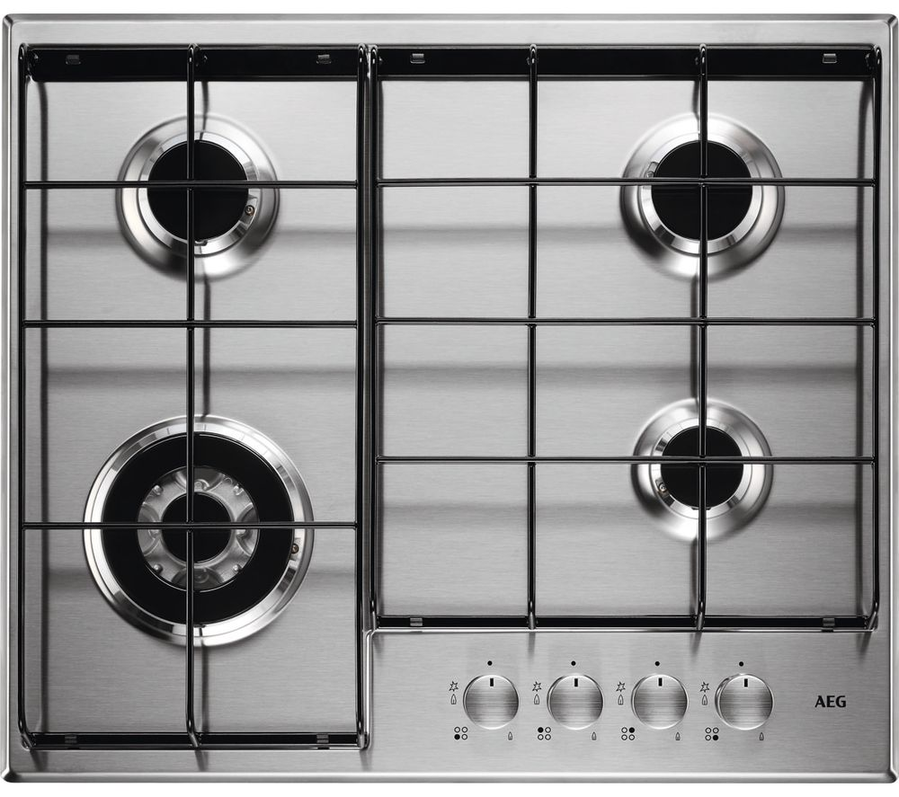 AEG  HG644350SM Gas Hob - Stainless Steel, Stainless Steel
