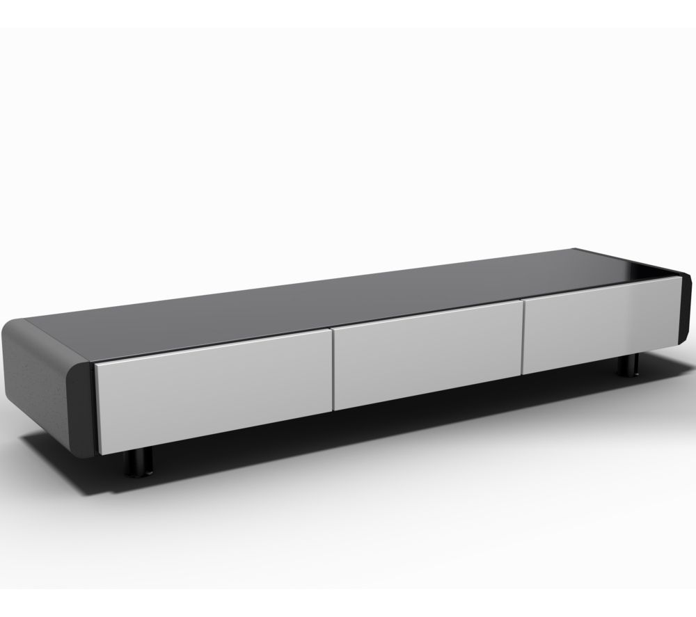 buy schnepel elf lowboard 170 tv stand black white free delivery currys. Black Bedroom Furniture Sets. Home Design Ideas