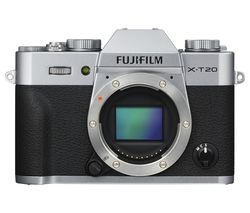 FUJIFILM X-T20 Compact System Camera - Silver, Body Only