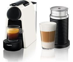 NESPRESSO by Magimix Essenza Mini Coffee Machine with Aeroccino - Pure White