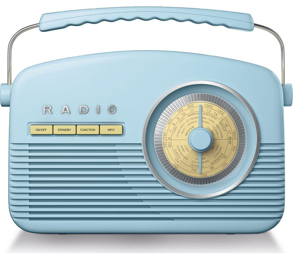 Image of AKAI A60010BLDABBT Portable DABﱓ Retro Bluetooth Radio - Blue, Blue