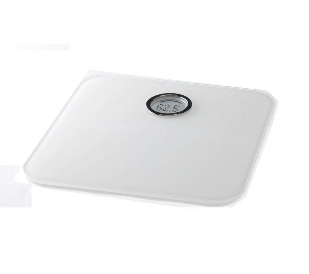 Fitbit Aria WiFi Smart Bathroom Scales - White, White