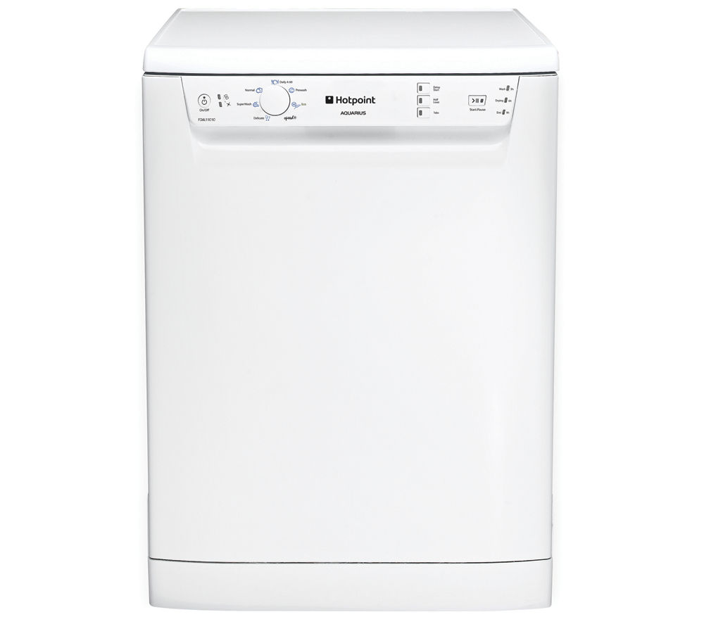HOTPOINT Aquarius FDAL11010P Full-size Dishwasher - White