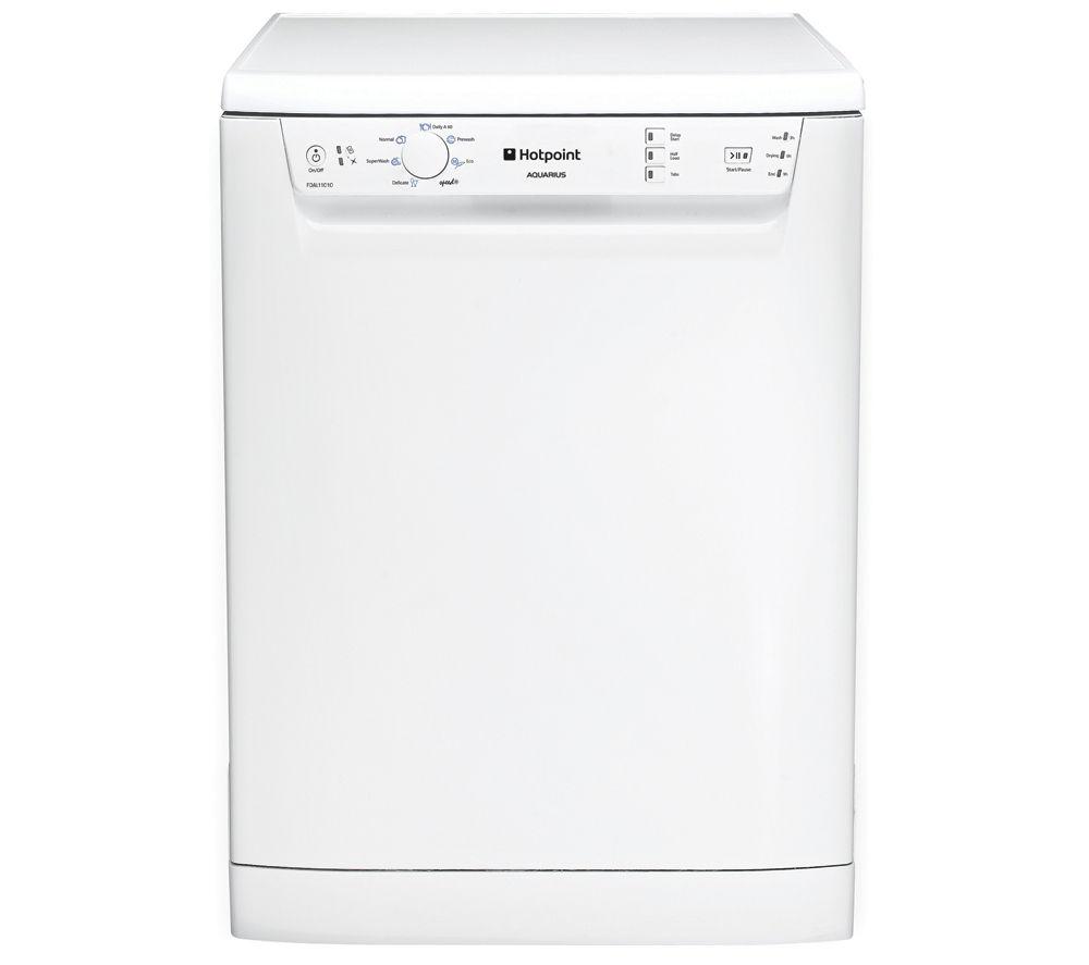 HOTPOINT  Aquarius FDAL11010P Full-size Dishwasher - White +  WMFUG742G SMART Washing Machine - Graphite