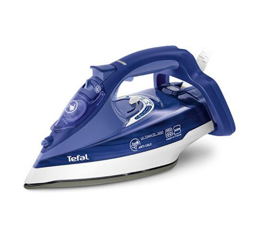 TEFAL Ultimate Anti Calc FV9630 Steam Iron - Blue
