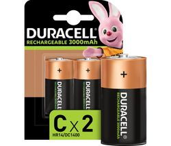 DURACELL LR14/MN1400 Accu C Rechargeable NiMH Batteries - 2 Battery Pack