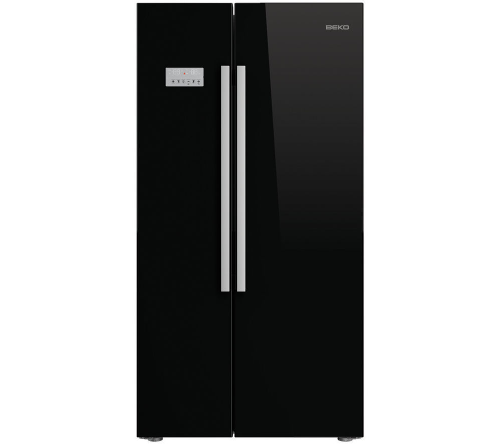 buy beko asl141b american style fridge freezer black. Black Bedroom Furniture Sets. Home Design Ideas