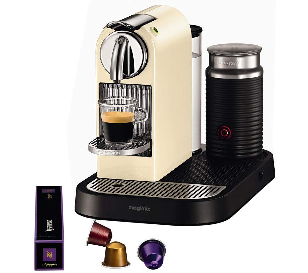 NESPRESSO 11301 Nespresso CitiZ & Milk Coffee Machine  Cream Cream
