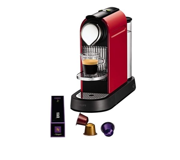 XN700641 Nespresso CitiZ Coffee Machine - Red