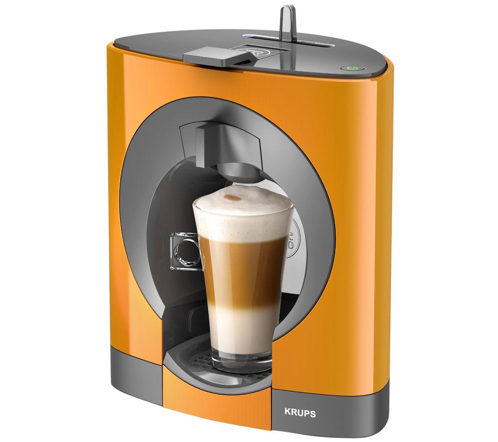 krups dolce gusto oblo kp110f40 hot drinks machine orange. Black Bedroom Furniture Sets. Home Design Ideas