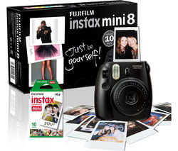 FUJIFILM Instax Mini 8 Instant Camera & 10 Shot Bundle - Black