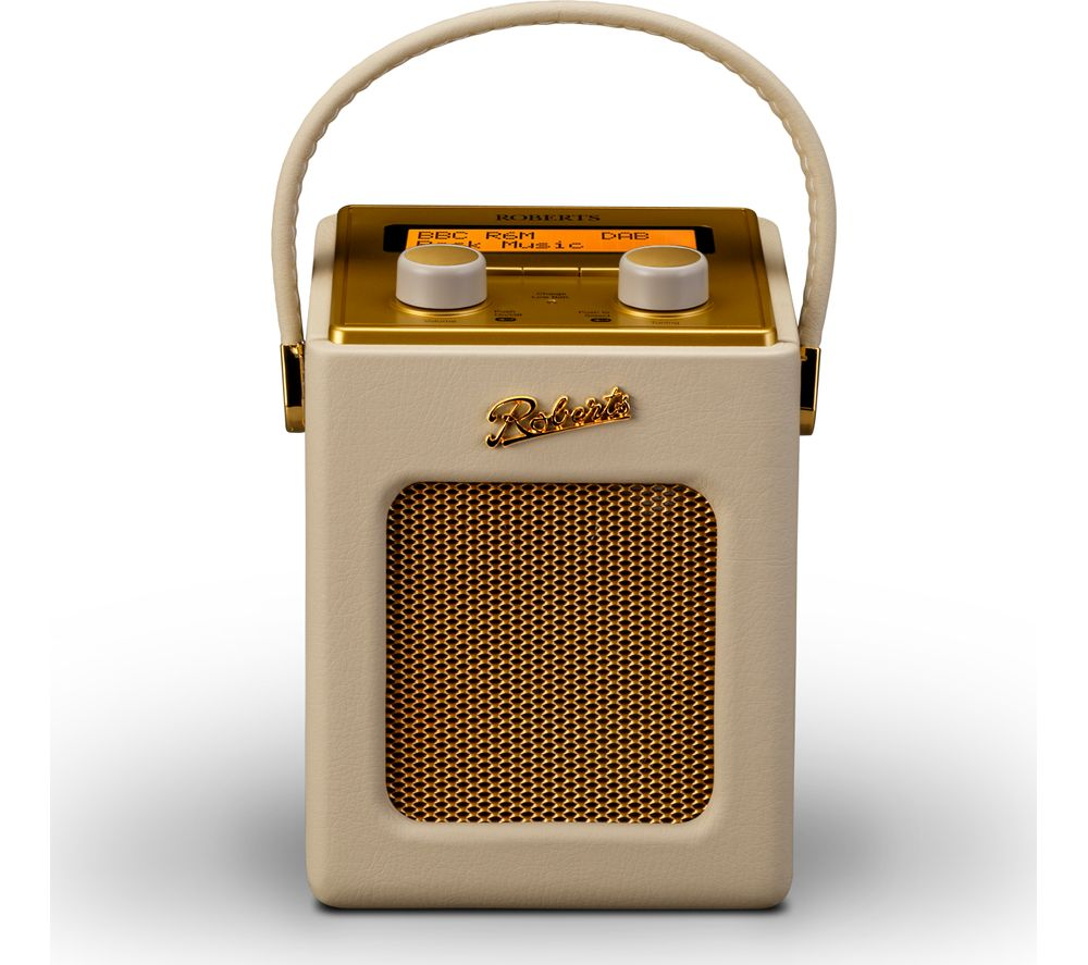 ROBERTS Revival Mini Portable DAB+/FM Radio - Pastel Cream & Gold