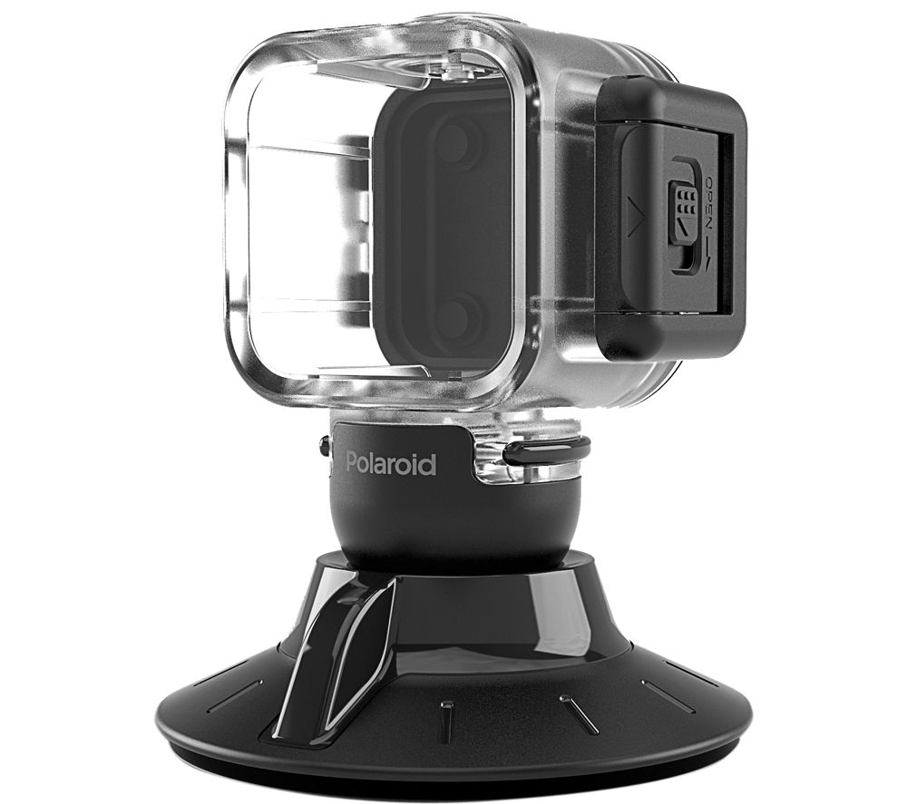 POLAROID Cube Waterproof Housing with Suction Mount - Clear