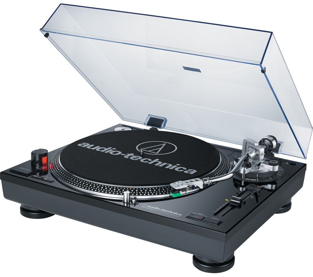 Click to view more of AUDIO TECHNICA AT-LP120USB Direct Drive Professional Turntable, Black