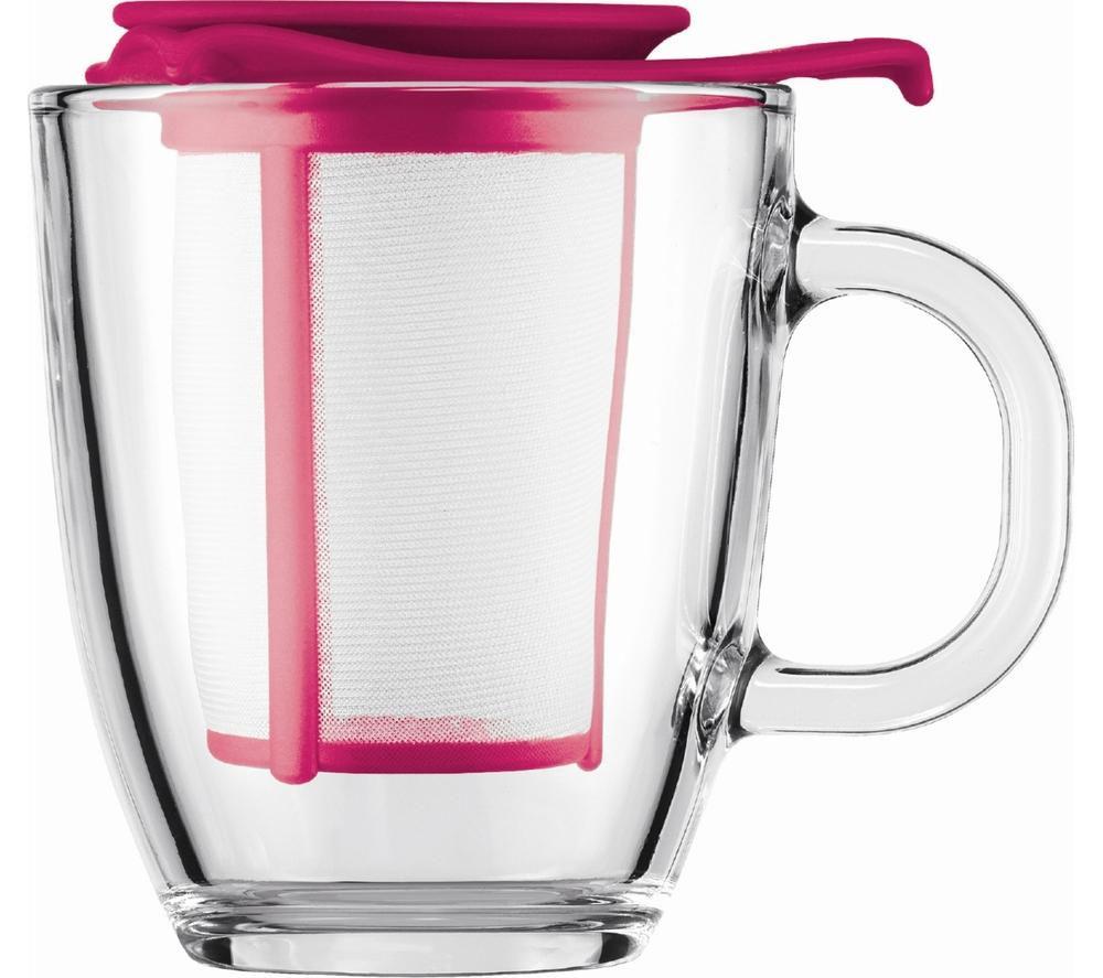 BODUM Yo Yo Mug & Tea Strainer Set - Pink