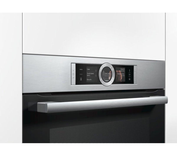 buy bosch hrg6769s1b electric oven stainless steel free delivery currys. Black Bedroom Furniture Sets. Home Design Ideas